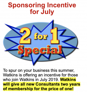 watkins july 2019 business promotion